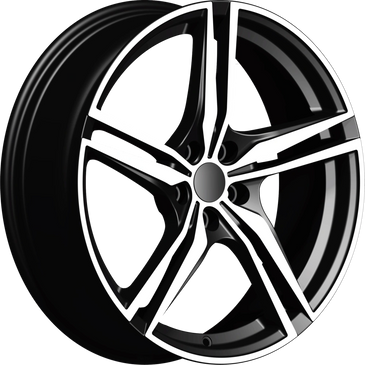 Bossini wheels. Bossini Racer Black polished twin 5 spoke wheels