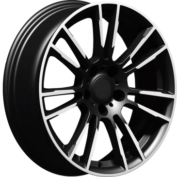 Bossini wheels. Bossini Stargaze black polished twin 7 spoke wheels