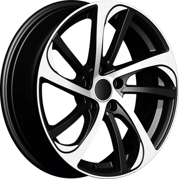Bossini wheels.  Bossini Storm Black polished twin 5 spoke wheels