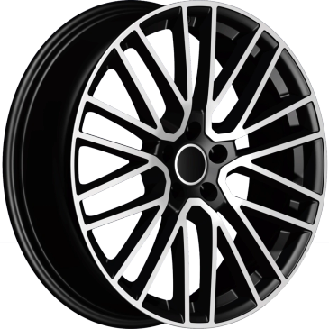 Bossini wheels. Bossini Titanium black polished mesh style wheels.