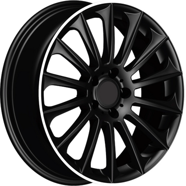 Bossini wheels. Bossini Wildbeauty black polished lip multi spoke wheels.