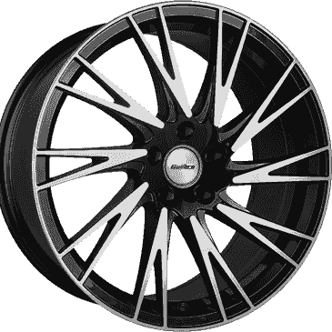 Calibre Storm gloss black polished commercial load rated alloy wheels
