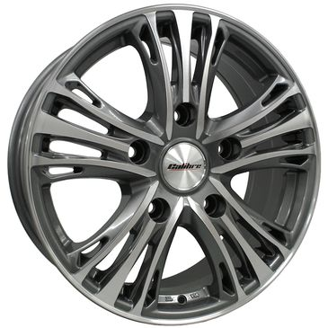 Calibre Odyssey load rated commercial gunmetal polished 5 spoke wheels
