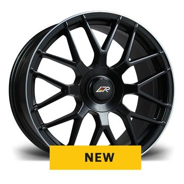 LMR Venus black polished lip mesh wheel