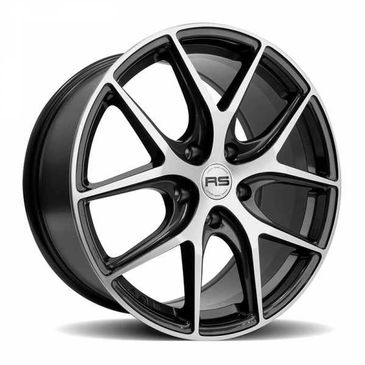 RS ALPHA gunmetal polished wheels