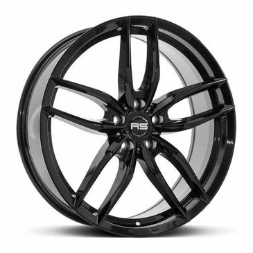RS IOTA gloss black twin 5 spoke alloy wheels