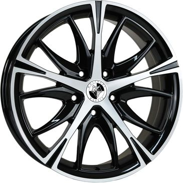 Gloss Black Polished.     PCD:  5x120  Size: 18x85.