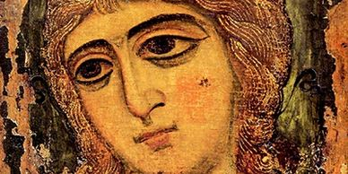 Icon of the Angel with Golden Hair