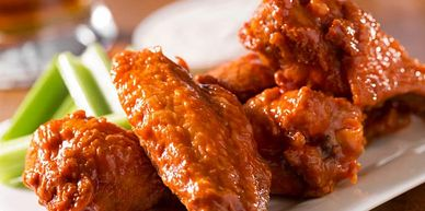 Wing specials and happy hour
