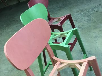 wood finish finishing refinish refinishing stain staining lacquer chair stool paint painting