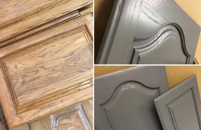 kitchen cabinet cabinets wood renovate grain finish refinish