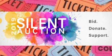 Silent Auction 50/50 Raffle Online bidding Fundraiser Ticket