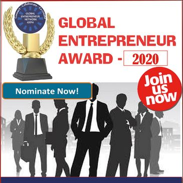 Global Entrepreneur Award 2020. Nominations are open.
