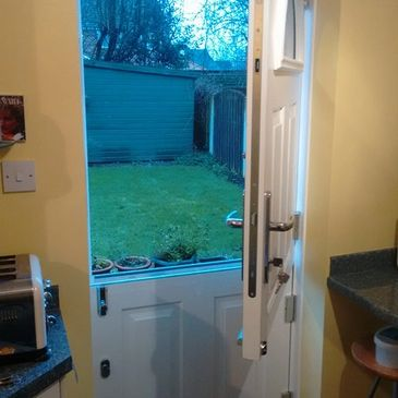 Inside view of a Solid Core stable door fitted by Worksop Composite Doors in Hucknall.