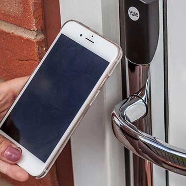 Key Free Yale Conexis Smart Locks available from Worksop Composite Doors.