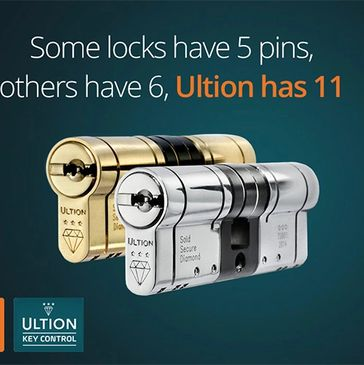 Brisant Ultion cylinders are available at Worksop Composite Doors to protect your home better.