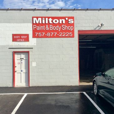 Milton's Paint and Body Office Entrance