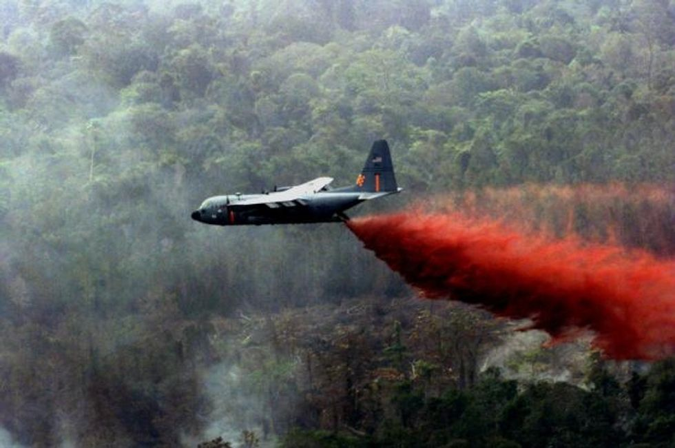 Spraying of Agent Orange in Vietnam during the period of 1961 to 1971.