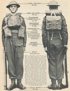 British records of a the uniform adopted around World War II show modified trousers. (UK Forces War