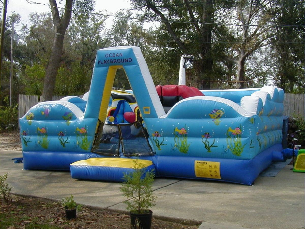 interactive backyard bouncers