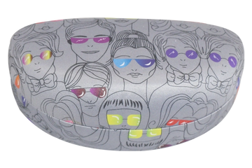 272 model metal optical case for sunglasses with digital printing