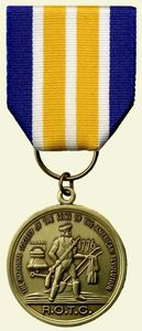 "The ROTC Medal is awarded to foster the principle of the ""citizen-soldier"" ."