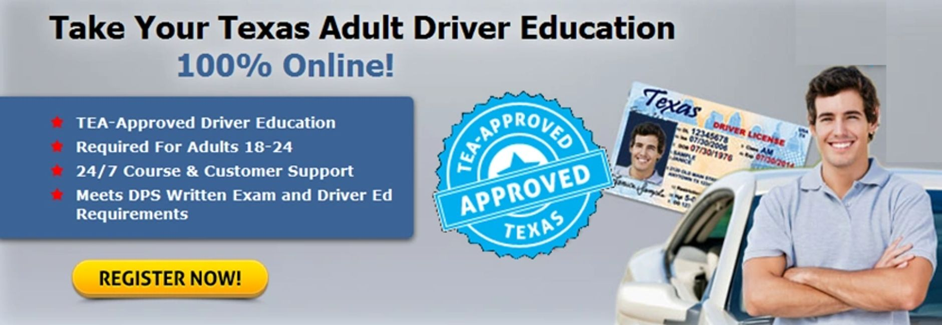 Texas Adult Drivers Education registration image