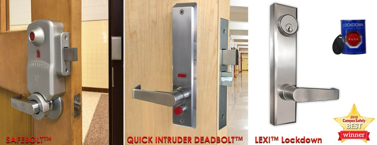 Instant Locking Classroom Locks: SAFEBOLT, QID, LEXI Lockdown