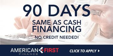 90 Days Same as Cash  Financing No Credit Needed