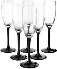 Made in France Vintage Black Stem Champagne Flutes Rentals Toronto