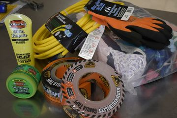 Bolt Gauges,Nylon Cable Ties,Hose Clamps,Duct Tape,extension Cords Gloves,Glue,Utility Straps,Spring