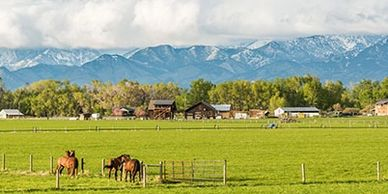 Longmont Colorado is nestled at the foot of the Rocky Mountains,