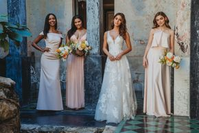 Allure bridals wedding dress and bridesmaids dresses