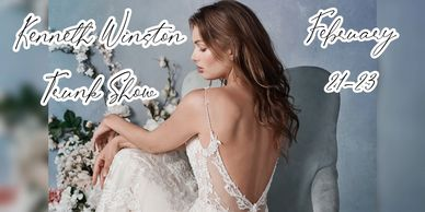 Kenneth Winston low back wedding dress