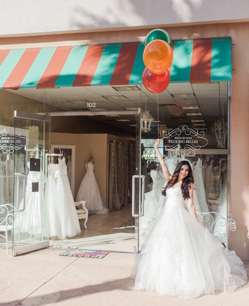 Gilbert Arizona bridal shop storefront