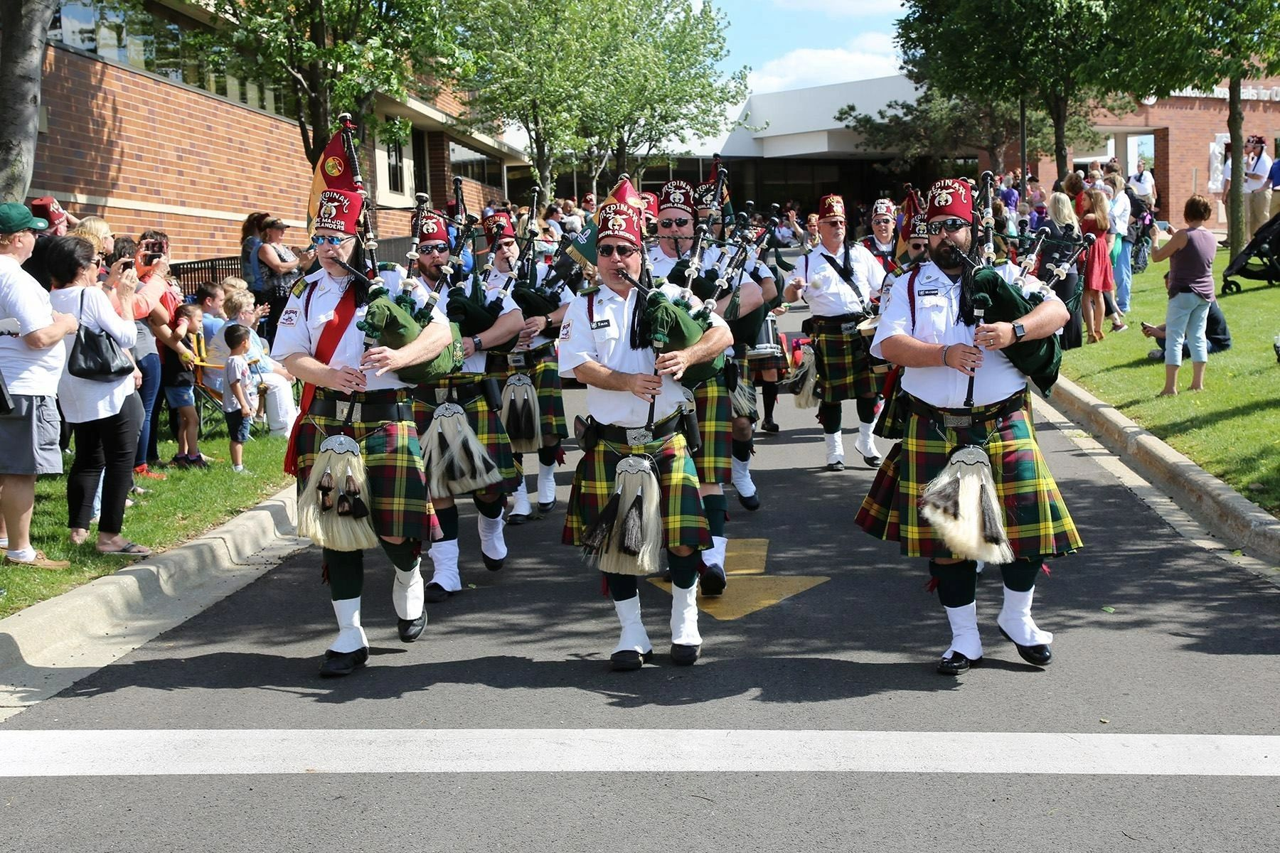 Medinah Highlanders Pipes and Drums at the Shriners Hospital For Childgren Chicago
