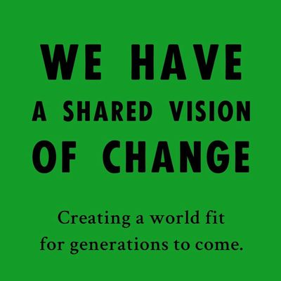 We have a shared vision of change