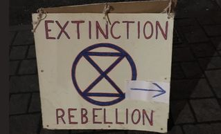 Extinction Rebellion Lincolnshire meeting sign