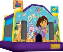 DORA FEATURES: Swiper, Boots, Backpack and Map. You will need an area of 18x18ft with an overhead cl