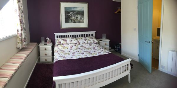 One of the newly refurbished double bedrooms with ensuite toilet.