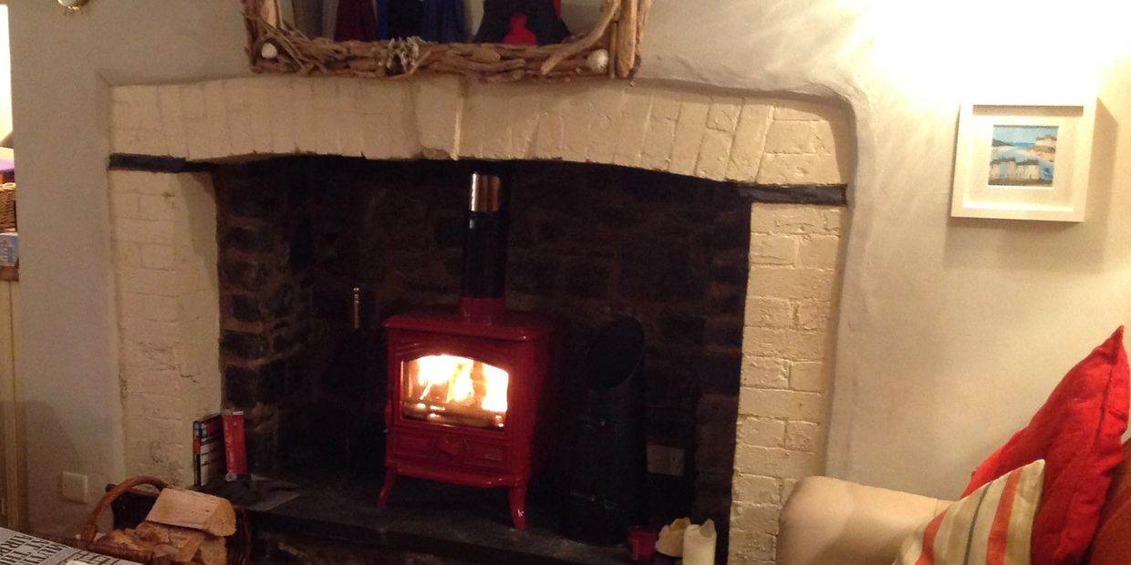 A multi fuel burner makes for cosy nights in... with modern electric heaters throughout the cottage.