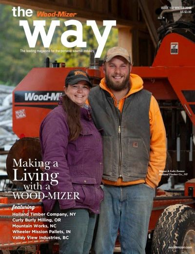 Holland Timber Company featured in Wood-Mizer's magazine, The Wood-Mizer Way