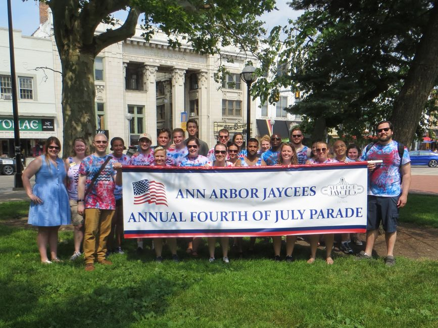 Annual Ann Arbor 4th of July Parade hosted by the Ann Arbor Jaycees
