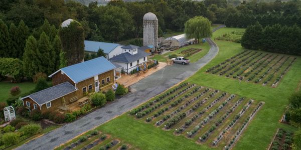 A aerial photograph of a beautiful Delaware wedding venue we did a wedding video at.