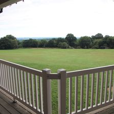 view over the sussex weald from burwash common pavilion