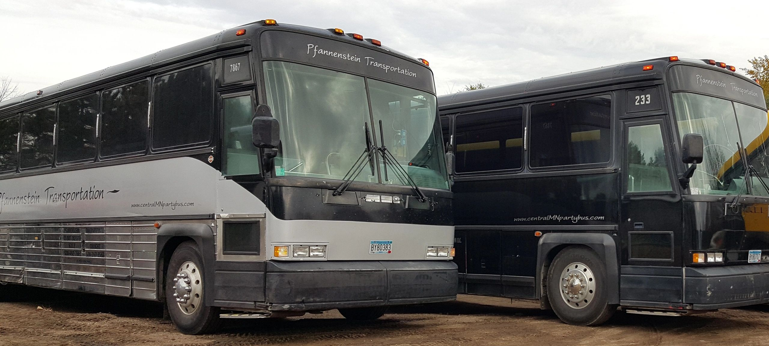 Both of our high end luxury limo buses are built on an MCI bus chassis offering the smoothest ride.