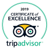 Certificate of Excellence: 2016-2019, TripAdvisor