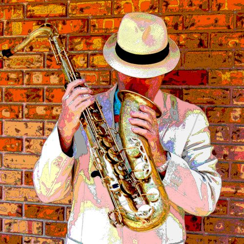 Solo jazz sax for parties, weddings, business events.