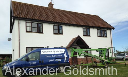A property in Halesworth that i was painting and decorating