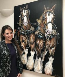 Clydesdales Equine Art By Laura Jeanne
